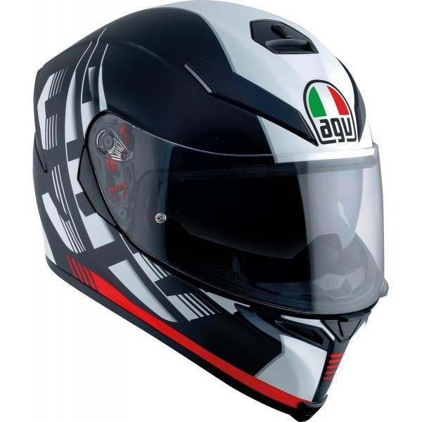 AGV K5 S  Darkstorm Matt Black / Red